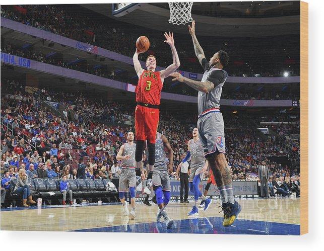 Nba Pro Basketball Wood Print featuring the photograph Atlanta Hawks V Philadelphia 76ers by Jesse D. Garrabrant