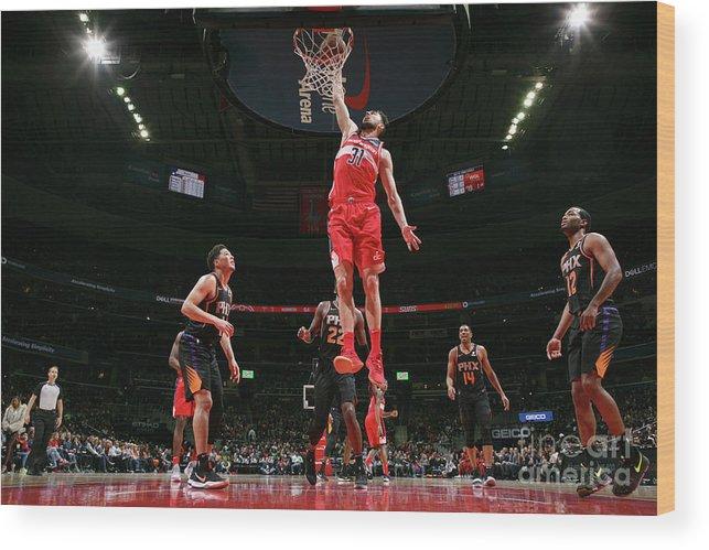 Nba Pro Basketball Wood Print featuring the photograph Phoenix Suns V Washington Wizards by Ned Dishman