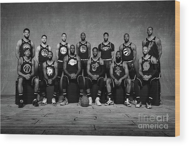 Nba Pro Basketball Wood Print featuring the photograph 2019 Nba All Star Portraits by Jesse D. Garrabrant