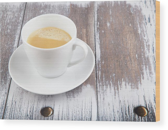 Cappuccino Wood Print featuring the photograph Coffee by Focusstock