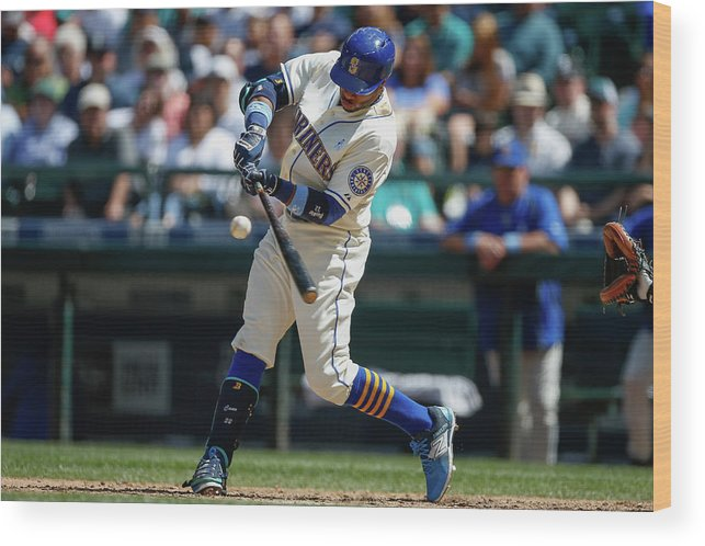 People Wood Print featuring the photograph Houston Astros V Seattle Mariners by Otto Greule Jr