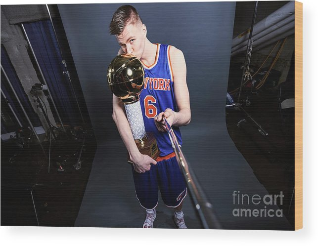 Event Wood Print featuring the photograph Nba All-star Portraits 2017 by Jennifer Pottheiser