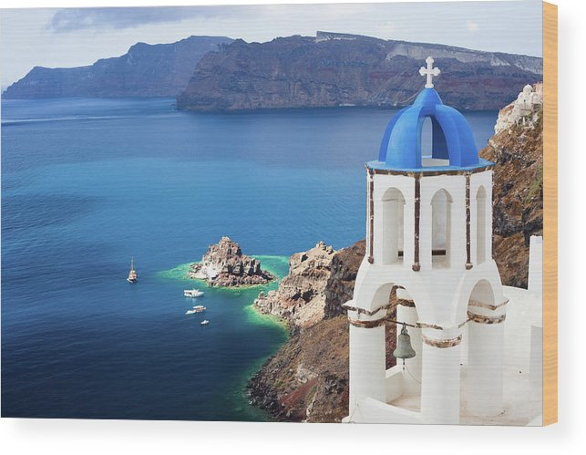Greek Culture Wood Print featuring the photograph Santorini, Greece by Traveler1116