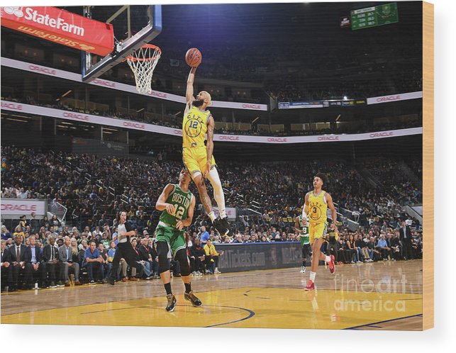 San Francisco Wood Print featuring the photograph Boston Celtics V Golden State Warriors by Noah Graham