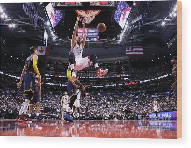 Playoffs Wood Print featuring the photograph Cleveland Cavaliers V Toronto Raptors - by Mark Blinch