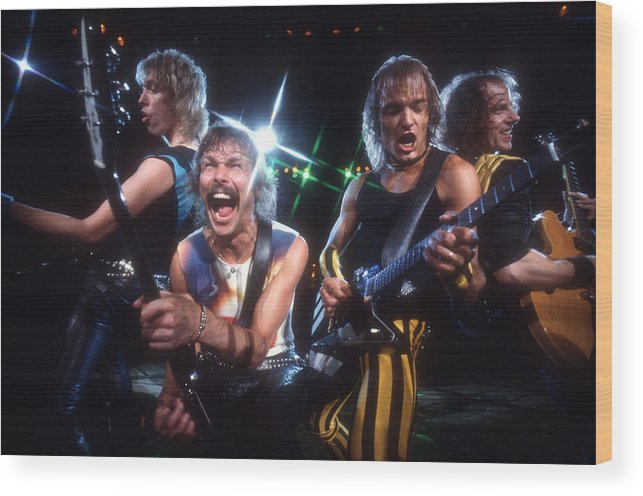 Heavy Metal Wood Print featuring the photograph Photo Of Scorpions by Michael Ochs Archives