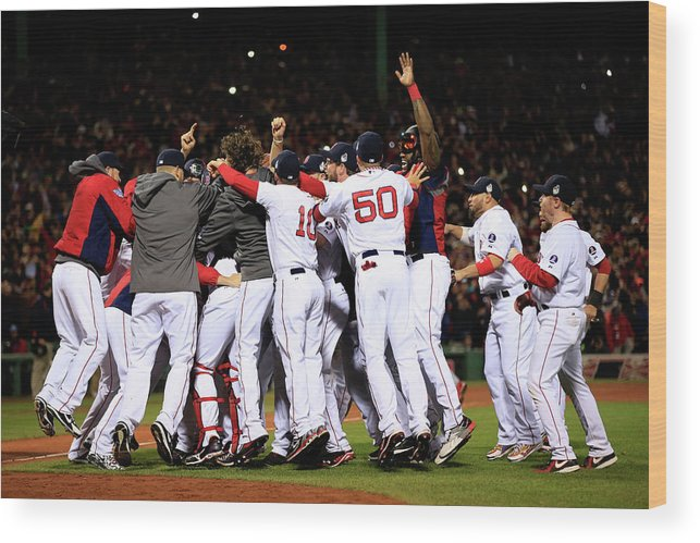 St. Louis Cardinals Wood Print featuring the photograph World Series - St Louis Cardinals V by Jamie Squire