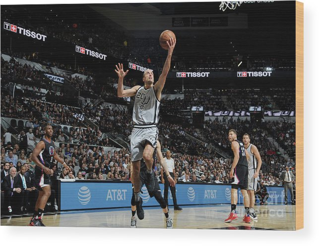 Nba Pro Basketball Wood Print featuring the photograph La Clippers V San Antonio Spurs by Mark Sobhani