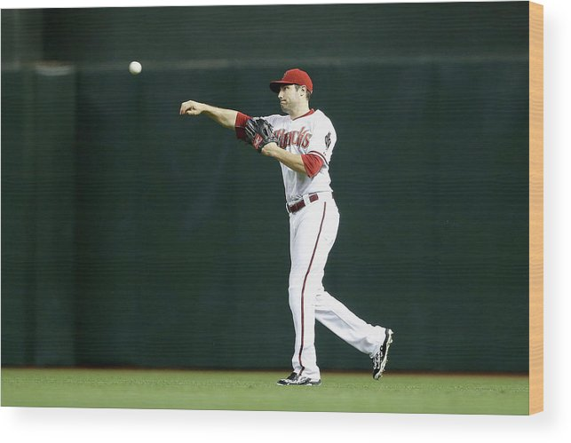 American League Baseball Wood Print featuring the photograph New York Mets V Arizona Diamondbacks by Christian Petersen
