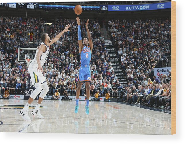 Nba Pro Basketball Wood Print featuring the photograph Oklahoma City Thunder V Utah Jazz by Melissa Majchrzak