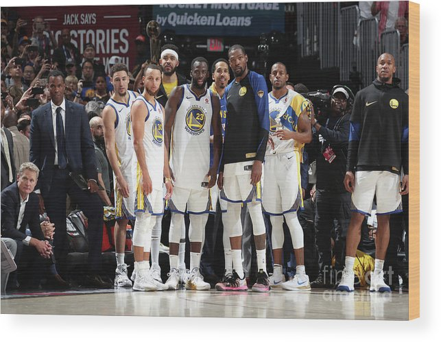 Playoffs Wood Print featuring the photograph 2018 Nba Finals - Game Four by Nathaniel S. Butler