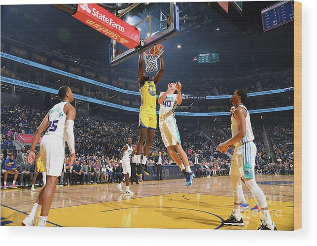 San Francisco Wood Print featuring the photograph Charlotte Hornets V Golden State by Noah Graham
