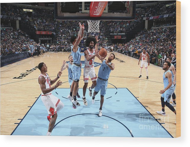 Coby White Wood Print featuring the photograph Chicago Bulls V Memphis Grizzlies by Joe Murphy