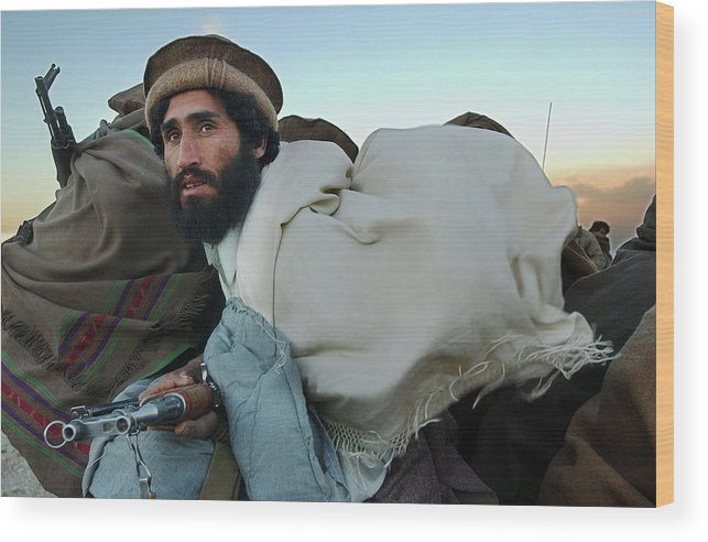 Mujahedeen Wood Print featuring the photograph Al Qaeda Routed From Tora Bora by Chris Hondros