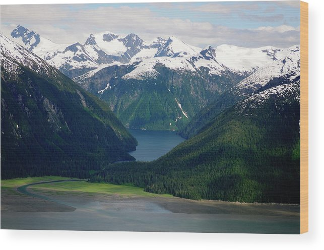 Extreme Terrain Wood Print featuring the photograph Alaska From The Air by Groveb