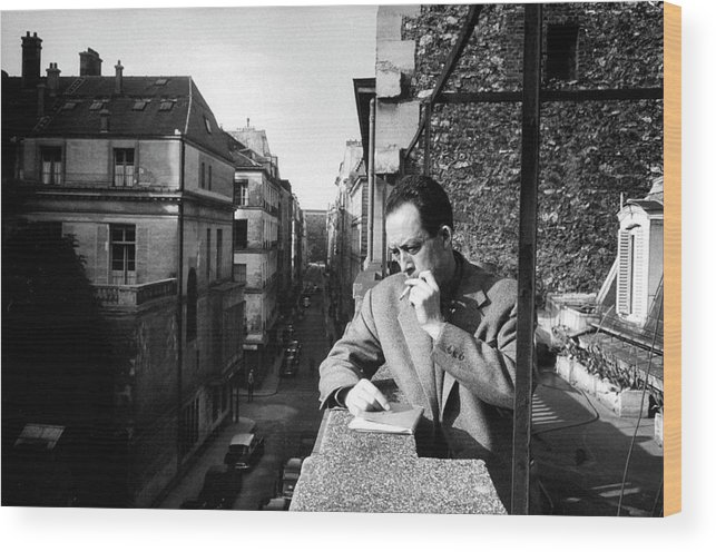 Timeincown Wood Print featuring the photograph Albert Camus by Loomis Dean