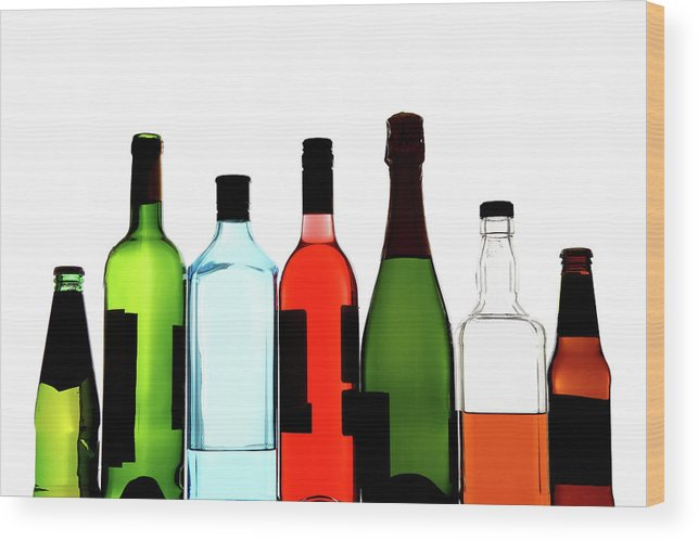 Alcohol Wood Print featuring the photograph Alcohol by Mattjeacock