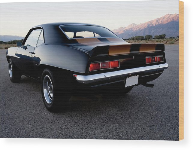 Drag Racing Wood Print featuring the photograph American Muscle Car by Sierrarat