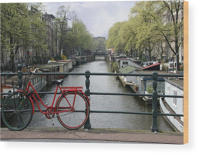 Row House Wood Print featuring the photograph Amsterdam City Scene by W-ings