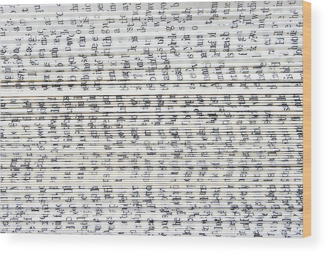 Information Medium Wood Print featuring the photograph Ancient Paper Book by Valerie Loiseleux
