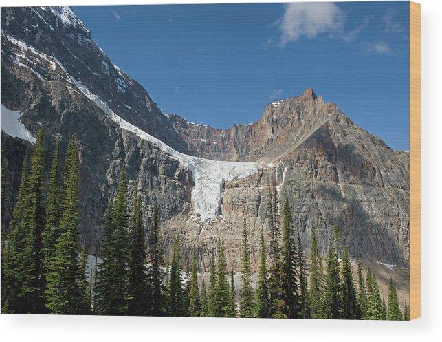 Scenics Wood Print featuring the photograph Angel Glacier by Jim Julien / Design Pics