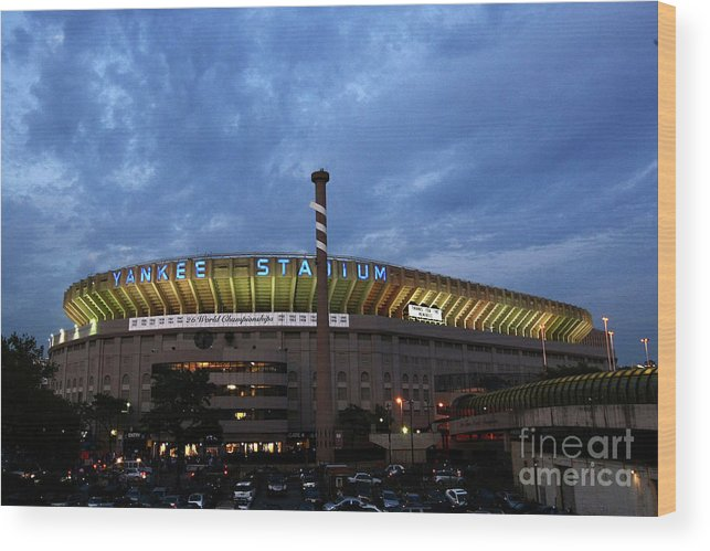 American League Baseball Wood Print featuring the photograph Baltimore Orioles V New York Yankees by Chris Mcgrath