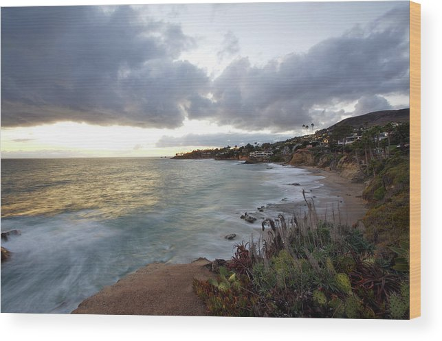 Laguna Beach Wood Print featuring the photograph Beautiful Laguna Coast After Sunset by Ekash