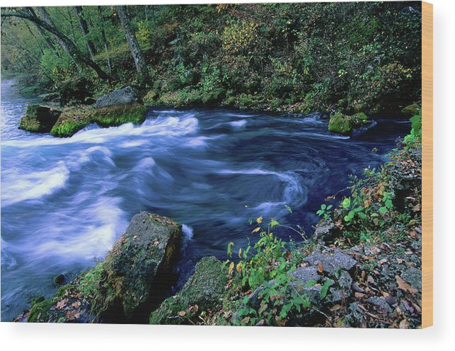 Scenics Wood Print featuring the photograph Big Spring, Ozarks National Scenic by John Elk Iii