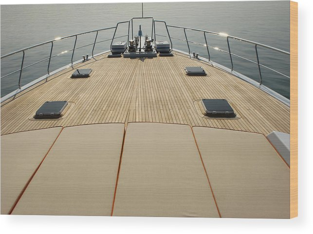 Seascape Wood Print featuring the photograph Boat Deck by 1001nights