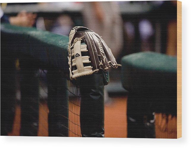 American League Baseball Wood Print featuring the photograph Boston Red Sox V Tampa Bay Rays by Ronald C. Modra/sports Imagery