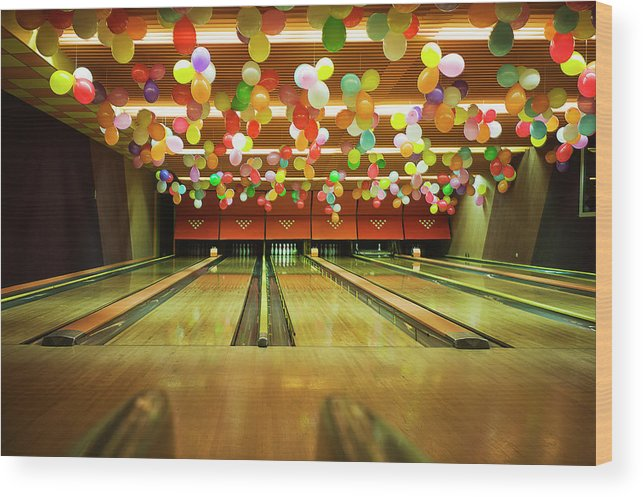 Tranquility Wood Print featuring the photograph Bowling by Olive