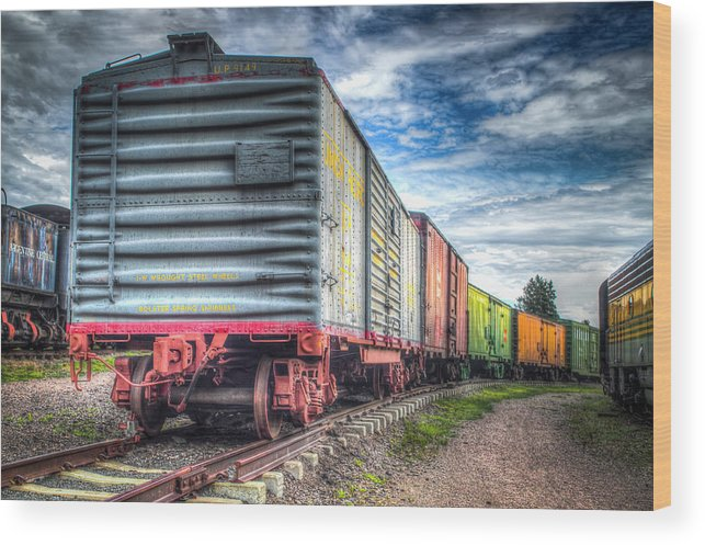 Train Museum Wood Print featuring the photograph Box Cars by G Wigler