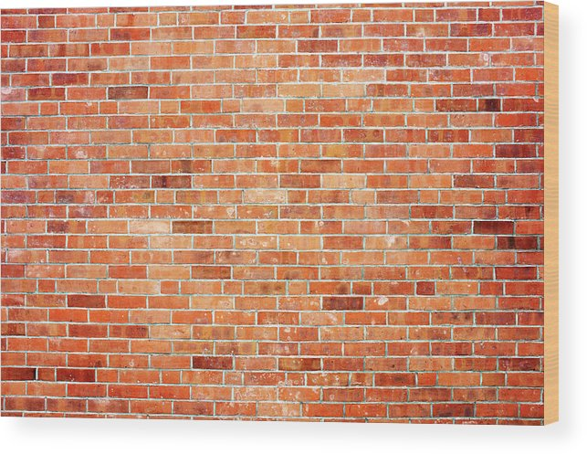 Toughness Wood Print featuring the photograph Brick Wall by Ballyscanlon