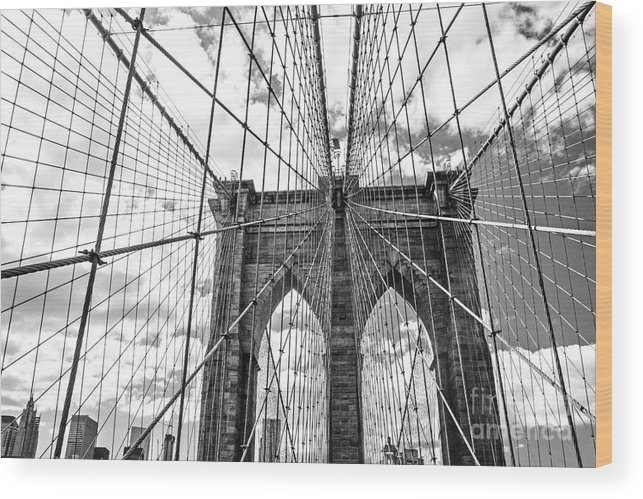Big Wood Print featuring the photograph Brooklyn Bridge, New York, Usa by Irina Kosareva