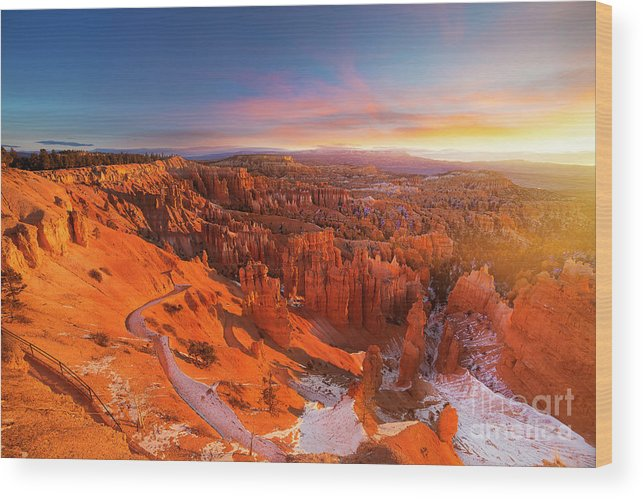 Scenics Wood Print featuring the photograph Bryce Canyon National Park At Sunset by Ankit Saxena