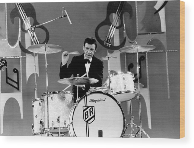Singer Wood Print featuring the photograph Buddy Rich by Lee