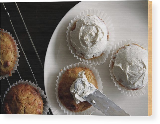 Unhealthy Eating Wood Print featuring the photograph Carrot Cakes by Quilie