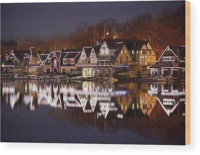 Holiday Wood Print featuring the photograph Christmas Lights by Denistangneyjr