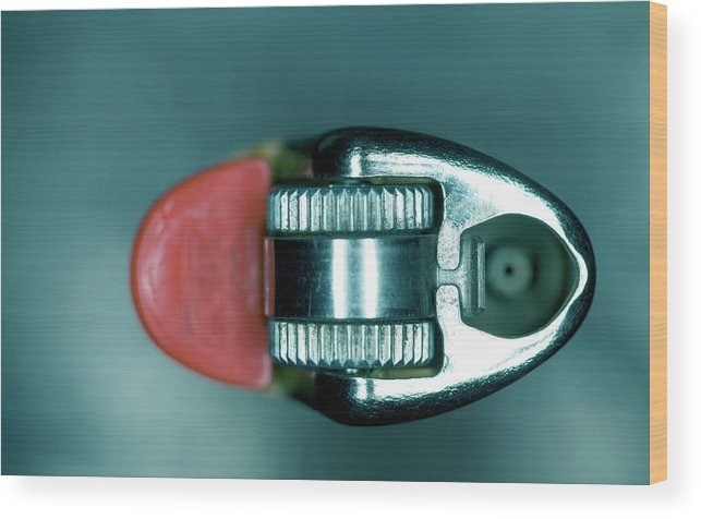Cigarette Lighter Wood Print featuring the photograph Cigarette Lighter, Close-up by Michael Duva