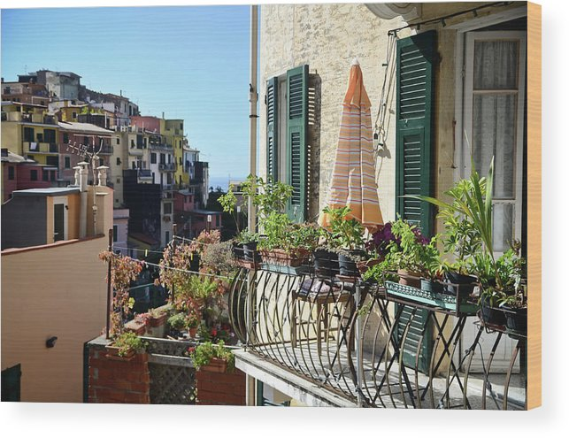 Holiday Wood Print featuring the photograph Cinque Terre by Eduleite