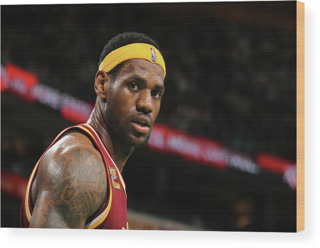 Playoffs Wood Print featuring the photograph Cleveland Cavaliers V Boston Celtics by Nathaniel S. Butler