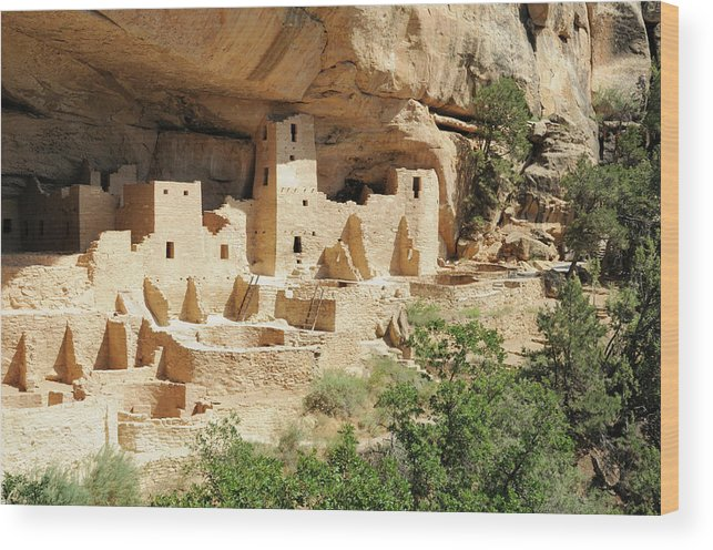 Mesa Verde National Park Wood Print featuring the photograph Cliff Palace In Mesa Verde, Colorado by Sshepard