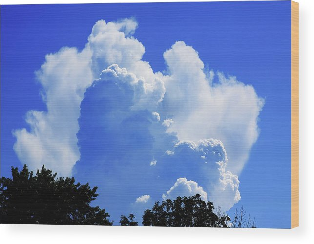Clouds Wood Print featuring the photograph Clouds one by John Lautermilch