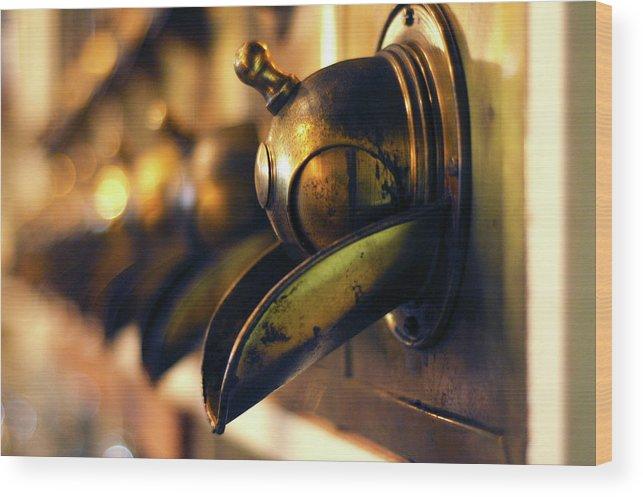 North Carolina Wood Print featuring the photograph Coffeemills by Dawn D. Hanna