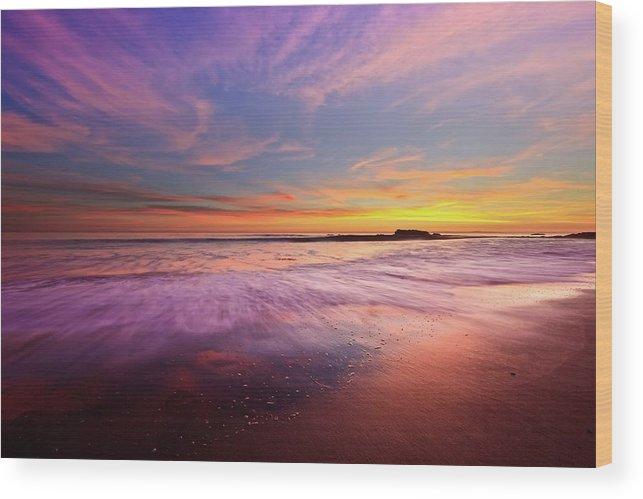 Color Splash At Sunset Laguna Beach Wood Print By Eric Lo