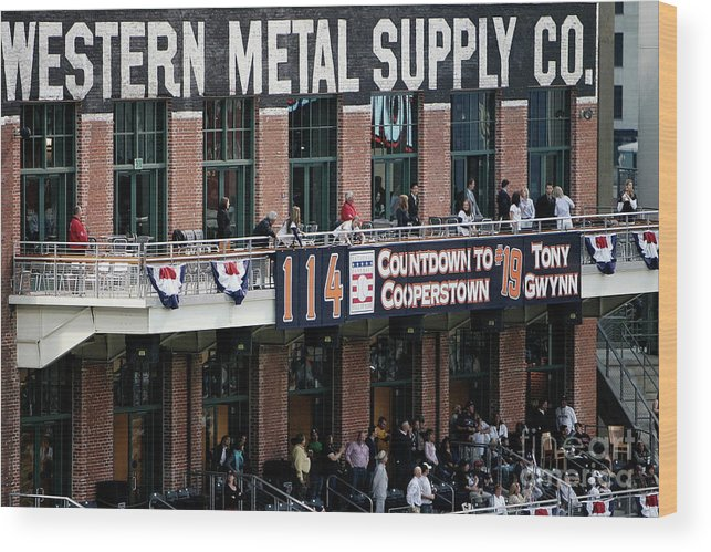 Opening Ceremony Wood Print featuring the photograph Colorado Rockies V San Diego Padres by Donald Miralle