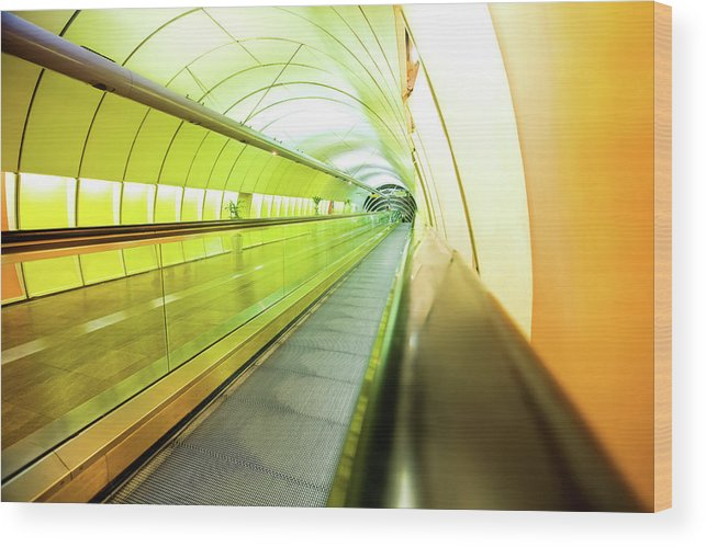 Pedestrian Wood Print featuring the photograph Colourful Walkway by Nikada