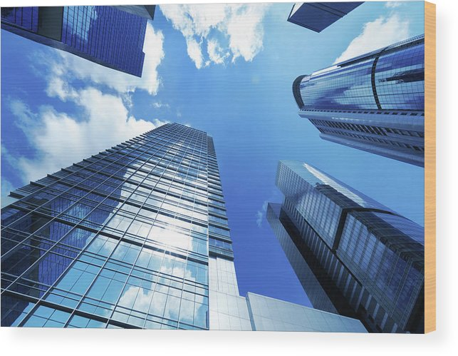 Corporate Business Wood Print featuring the photograph Corporate Building by Samxmeg