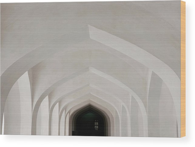 Tranquility Wood Print featuring the photograph Corridor In Amer Fort, Rajasthan, India by Cultura Exclusive/karen Fox