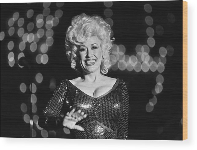 Dolly Parton Wood Print featuring the photograph Country Singer Dolly Parton In Concert by George Rose